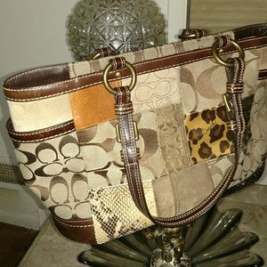 Coach patchwork handbag EUC